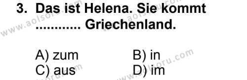 Seçmeli Yabancı Dil Almanca 3 Dersi 2011 - 2012 Yılı Ek Sınav Soruları 3. Soru