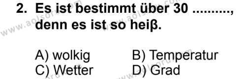 Seçmeli Yabancı Dil Almanca 3 Dersi 2012 - 2013 Yılı 1. Dönem Sınav Soruları 2. Soru