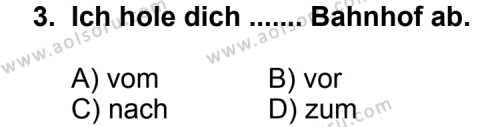 Seçmeli Yabancı Dil Almanca 3 Dersi 2012 - 2013 Yılı 1. Dönem Sınav Soruları 3. Soru