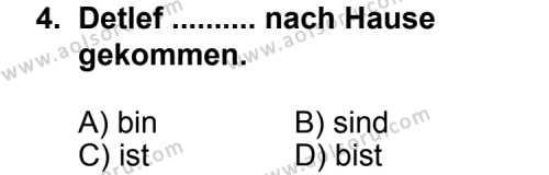 Seçmeli Yabancı Dil Almanca 3 Dersi 2012 - 2013 Yılı 1. Dönem Sınav Soruları 4. Soru
