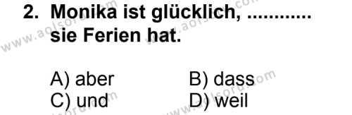 Seçmeli Yabancı Dil Almanca 3 Dersi 2013 - 2014 Yılı 2. Dönem Sınav Soruları 2. Soru
