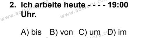 Seçmeli Yabancı Dil Almanca 3 Dersi 2014 - 2015 Yılı 2. Dönem Sınav Soruları 2. Soru