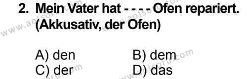 Seçmeli Yabancı Dil Almanca 3 Dersi 2014 - 2015 Yılı Ek Sınav Soruları 2. Soru