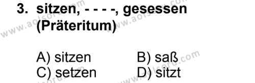 Seçmeli Yabancı Dil Almanca 3 Dersi 2014 - 2015 Yılı Ek Sınav Soruları 3. Soru