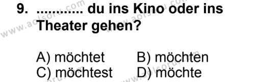 Seçmeli Yabancı Dil Almanca 4 Dersi 2011-2012 Yılı 1. Dönem Sınavı 9. Soru