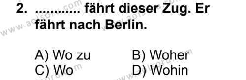 Seçmeli Yabancı Dil Almanca 4 Dersi 2011 - 2012 Yılı Ek Sınav Soruları 2. Soru