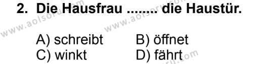 Seçmeli Yabancı Dil Almanca 4 Dersi 2012 - 2013 Yılı 1. Dönem Sınav Soruları 2. Soru