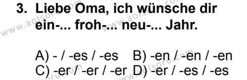 Seçmeli Yabancı Dil Almanca 4 Dersi 2013 - 2014 Yılı 2. Dönem Sınav Soruları 3. Soru