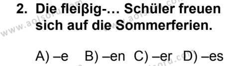Seçmeli Yabancı Dil Almanca 4 Dersi 2013 - 2014 Yılı 3. Dönem Sınav Soruları 2. Soru