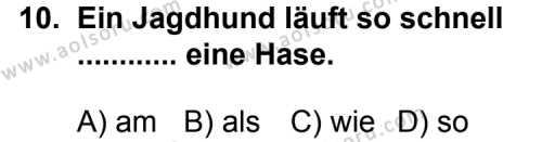 Seçmeli Yabancı Dil Almanca 5 Dersi 2011-2012 Yılı 1. Dönem Sınavı 10. Soru