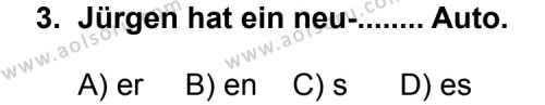 Seçmeli Yabancı Dil Almanca 5 Dersi 2011 - 2012 Yılı Ek Sınav Soruları 3. Soru