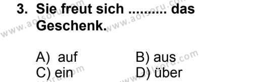 Seçmeli Yabancı Dil Almanca 5 Dersi 2012 - 2013 Yılı 1. Dönem Sınav Soruları 3. Soru