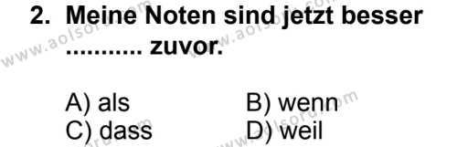 Seçmeli Yabancı Dil Almanca 5 Dersi 2013 - 2014 Yılı 2. Dönem Sınav Soruları 2. Soru