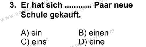 Seçmeli Yabancı Dil Almanca 5 Dersi 2014 - 2015 Yılı 1. Dönem Sınav Soruları 3. Soru