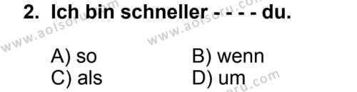 Seçmeli Yabancı Dil Almanca 5 Dersi 2014 - 2015 Yılı 2. Dönem Sınav Soruları 2. Soru