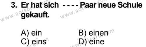 Seçmeli Yabancı Dil Almanca 5 Dersi 2014 - 2015 Yılı Ek Sınav Soruları 3. Soru