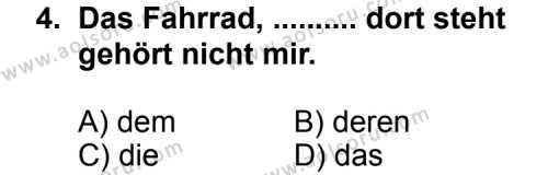 Seçmeli Yabancı Dil Almanca 6 Dersi 2012 - 2013 Yılı 1. Dönem Sınav Soruları 4. Soru