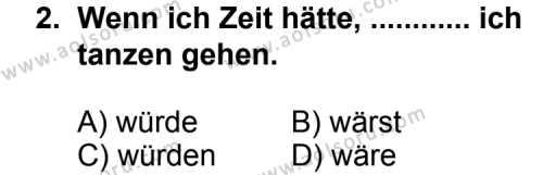 Seçmeli Yabancı Dil Almanca 6 Dersi 2013 - 2014 Yılı 3. Dönem Sınav Soruları 2. Soru