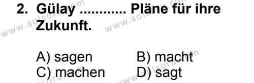 Seçmeli Yabancı Dil Almanca 6 Dersi 2014 - 2015 Yılı 1. Dönem Sınav Soruları 2. Soru