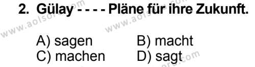 Seçmeli Yabancı Dil Almanca 6 Dersi 2014 - 2015 Yılı Ek Sınav Soruları 2. Soru