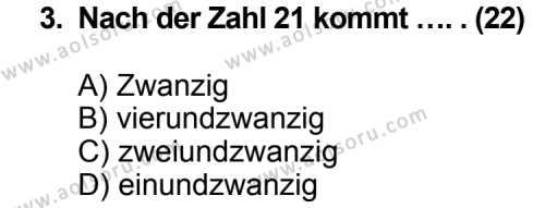 Seçmeli Yabancı Dil Almanca 7 Dersi 2012 - 2013 Yılı 1. Dönem Sınav Soruları 3. Soru