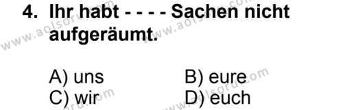 Seçmeli Yabancı Dil Almanca 7 Dersi 2014 - 2015 Yılı 2. Dönem Sınav Soruları 4. Soru