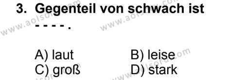 Seçmeli Yabancı Dil Almanca 7 Dersi 2014 - 2015 Yılı Ek Sınav Soruları 3. Soru