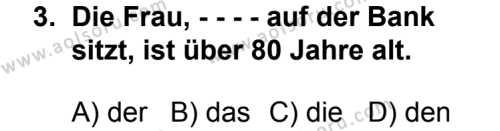 Seçmeli Yabancı Dil Almanca 8 Dersi 2014 - 2015 Yılı 2. Dönem Sınav Soruları 3. Soru