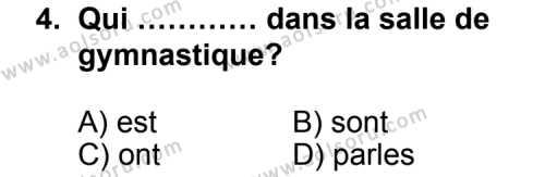 Seçmeli Yabancı Dil Fransızca 3 Dersi 2011 - 2012 Yılı Ek Sınav Soruları 4. Soru