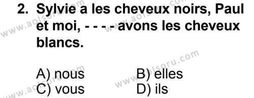 Seçmeli Yabancı Dil Fransızca 4 Dersi 2014 - 2015 Yılı 3. Dönem Sınav Soruları 2. Soru