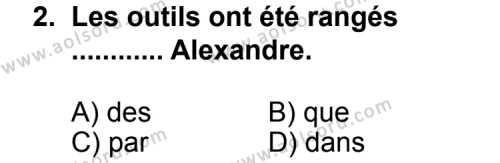 Seçmeli Yabancı Dil Fransızca 6 Dersi 2013 - 2014 Yılı 1. Dönem Sınav Soruları 2. Soru