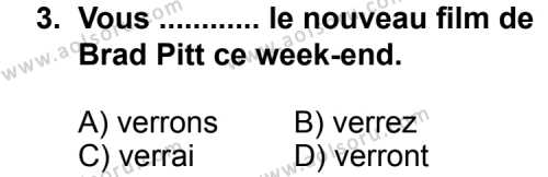 Seçmeli Yabancı Dil Fransızca 6 Dersi 2013 - 2014 Yılı 1. Dönem Sınav Soruları 3. Soru