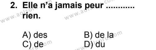 Seçmeli Yabancı Dil Fransızca 7 Dersi 2013 - 2014 Yılı 2. Dönem Sınav Soruları 2. Soru