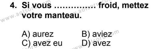 Seçmeli Yabancı Dil Fransızca 8 Dersi 2012 - 2013 Yılı 1. Dönem Sınav Soruları 4. Soru