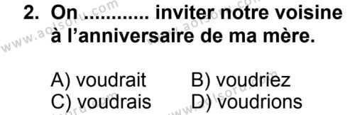 Seçmeli Yabancı Dil Fransızca 8 Dersi 2013 - 2014 Yılı 2. Dönem Sınav Soruları 2. Soru