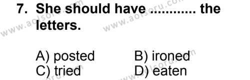Seçmeli Yabancı Dil İngilizce 3 Dersi 2012-2013 Yılı 1. Dönem Sınavı 7. Soru