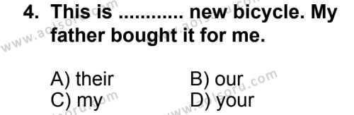 Seçmeli Yabancı Dil İngilizce 3 Dersi 2013 - 2014 Yılı 1. Dönem Sınav Soruları 4. Soru