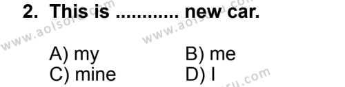 Seçmeli Yabancı Dil İngilizce 3 Dersi 2013 - 2014 Yılı 3. Dönem Sınav Soruları 2. Soru