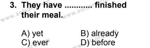 Seçmeli Yabancı Dil ingilizce 4 Dersi 2013 - 2014 Yılı 2. Dönem Sınavı 3. Soru