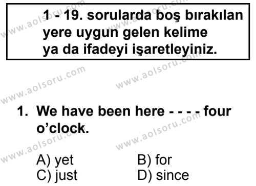 Seçmeli Yabancı Dil ingilizce 5 Dersi 2014 - 2015 Yılı 3. Dönem Sınav Soruları 1. Soru