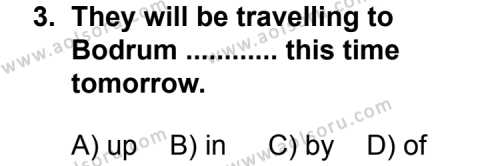 Seçmeli Yabancı Dil İngilizce 6 Dersi 2013 - 2014 Yılı 2. Dönem Sınavı 3. Soru