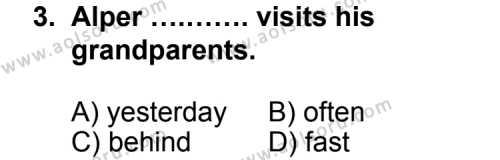 Seçmeli Yabancı Dil İngilizce 6 Dersi 2013 - 2014 Yılı 3. Dönem Sınav Soruları 3. Soru