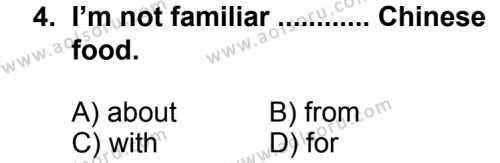 Seçmeli Yabancı Dil İngilizce 7 Dersi 2013 - 2014 Yılı 2. Dönem Sınav Soruları 4. Soru