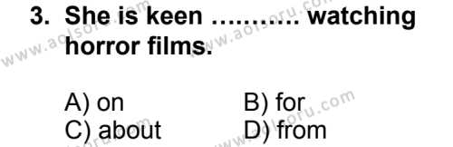 Seçmeli Yabancı Dil İngilizce 7 Dersi 2013 - 2014 Yılı 3. Dönem Sınav Soruları 3. Soru