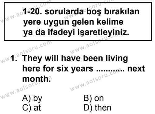 Seçmeli Yabancı Dil ingilizce 8 Dersi 2014 - 2015 Yılı 1. Dönem Sınav Soruları 1. Soru
