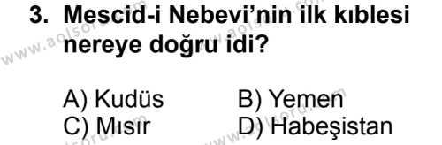 Siyer 2 Dersi 2013 - 2014 Yılı 3. Dönem Sınav Soruları 3. Soru