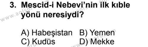 Siyer 2 Dersi 2014 - 2015 Yılı 3. Dönem Sınav Soruları 3. Soru