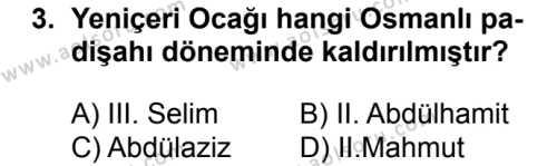 Tarih 6 Dersi 2018 - 2019 Yılı 1. Dönem Sınavı 3. Soru