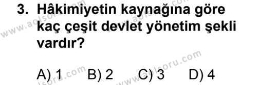 T.C. İnklap Tarihi ve Atatürkçülük 2 Dersi 2012 - 2013 Yılı 3. Dönem Sınav Soruları 3. Soru