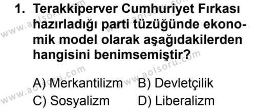 T.C. İnklap Tarihi ve Atatürkçülük 2 Dersi 2019 - 2020 Yılı 2. Dönem Sınav Soruları 1. Soru